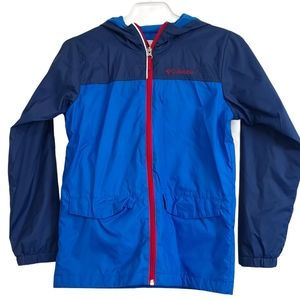 Columbia Boys Hooded Blue Spring Fall Jacket